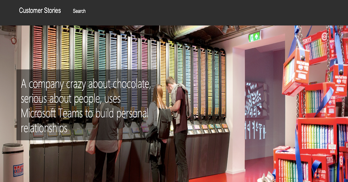 A company crazy about chocolate, serious about people, uses Microsoft Teams to build personal relationships